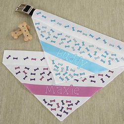 Dog Bone Personalized Dog Bandana