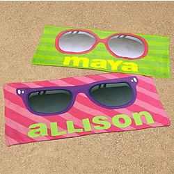 Personalized Sunglasses Beach Towel