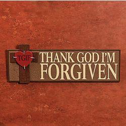 TGIF Wooden Religious Sign