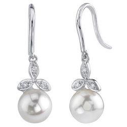 Akoya Pearl and Diamond Stephanie Earrings