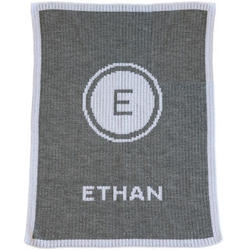 Initial Stamp and Name Stroller Blanket