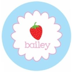 "Personalized 10"" Strawberry Plate"