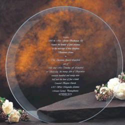 Crystal Invitation Plate