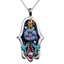 Purple Hamsa Necklace