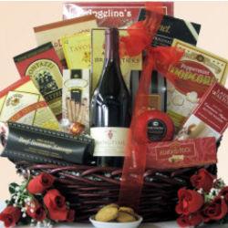 Hang Time Pinot Noir Gourmet Wine Gift Basket