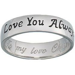 Stainless Steel Love You Always Message Band