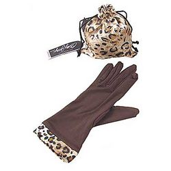 Brown Glamour Gloves