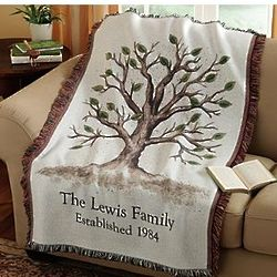 Family Tree Personalized Throw