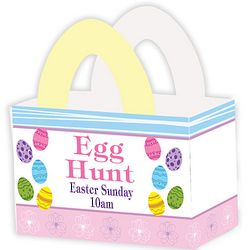 Personalized Bright Easter Eggs Favor Box