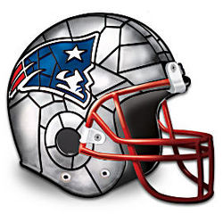 NFL Helmet Tiffany-Style Accent Lamp