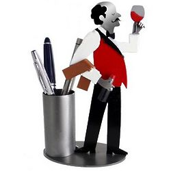 Wine Steward Pen Holder