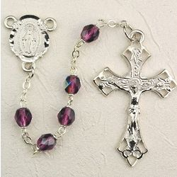 Deluxe Pewter and Amethyst Rosary
