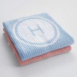 Personalized Knit Stroller Blanket