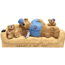 Dad's Personalized Bear Bunch for a Hard Working Couch Potato