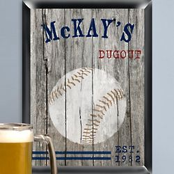 Personalized Baseball Man Cave Pub Sign