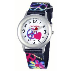 Personalized Heart and Peace Sign Watch