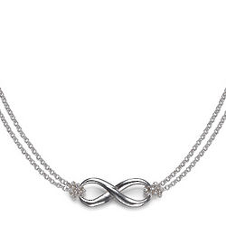 Sterling Silver Infinity Pendant with Double Chain