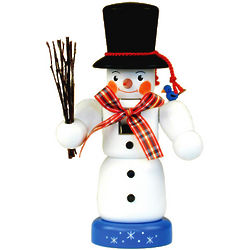 Painted Snowman Nutcracker