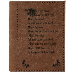 Personalized Leather Irish Blessing Photo Album