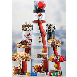 Deluxe Snowman Candy Tower