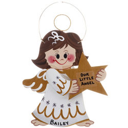 Personalized My Little Angel Christmas Ornament