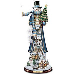 Home for the Holidays Tall Snowman Figurine