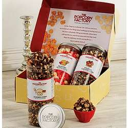 Chocolate Lover's Triple Canister Popcorn Gift Box