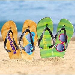 Personalized Sunglasses Flip Flops