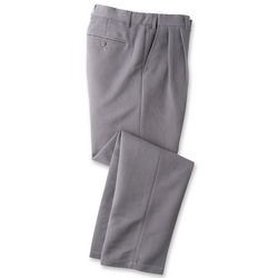 Pleated Front Microfiber Trouser