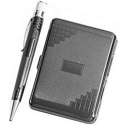Tornado Pen & Card Case Set in Black Nickel