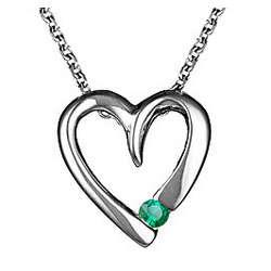 18K Emerald Heart Pendant