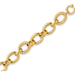 14k Yellow Gold Smooth Carved Fine Bracelet