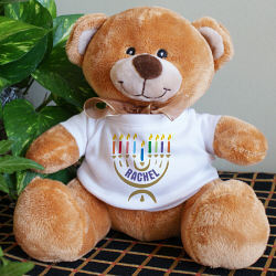 Personalized Menorah Teddy Bear