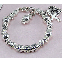 Silver Dreams of an Angel Sterling Silver Name Bracelet
