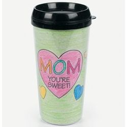 Color Your Own! Mom Artist Travel Mug