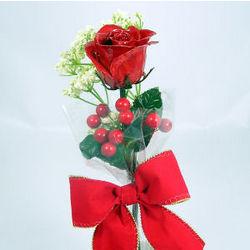 "11"" Antiqued Valentine's Day Rose"