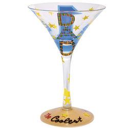 #1 Dad Martini Glass