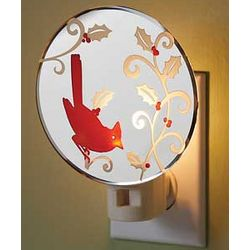 Holiday Cardinal Mirror Night Light