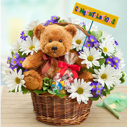 Lotsa Love Congratulations Flower Bouquet and Bear