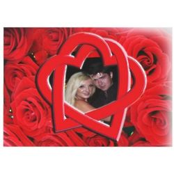 Red Roses and Hearts Custom Photo Wedding Invitation