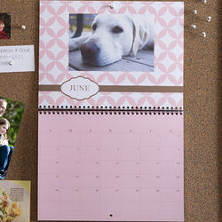 Through the Year Personalized Photo Wall Calendar