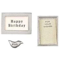 Happy Birthday Pewter Wishbox