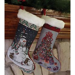 Fiber Optic Christmas Stocking