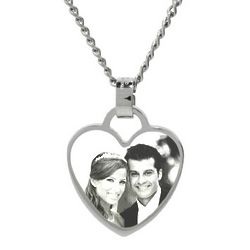 Stainless Steel Heart Charm Custom Photo Pendant