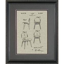 Modern Chair Patent Framed Print