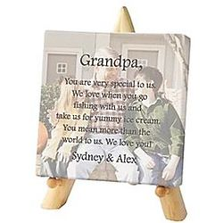 Personalized Mini Photo Canvas with Easel