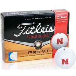Nebraska Cornhuskers Pro V1 Collegiate Golf Balls