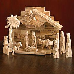 Holy Land Olive-Wood Nativity Set