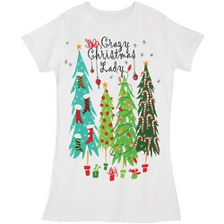 Crazy Christmas Lady Sleepshirt