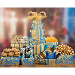 Caramel Popcorn and Chocolate Gift Tower
